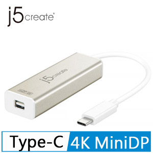 j5 JCA142 USB Type-C to 4K Mini DP 轉接器