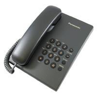 Panasonic 經典桌壁兩用有線電話KX-TS500(黑)