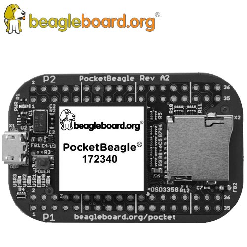 beagleboard PocketBeagle (無焊接接腳)