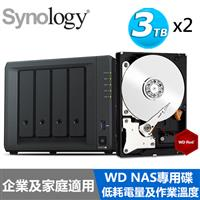 【超值組】Synology DS418 搭 WD 紅標 3T NAS碟x2