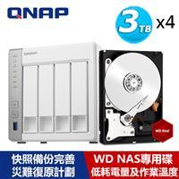 【超值組】QNAP TS-431P2-4G 搭WD 紅標 3T NAS碟x4