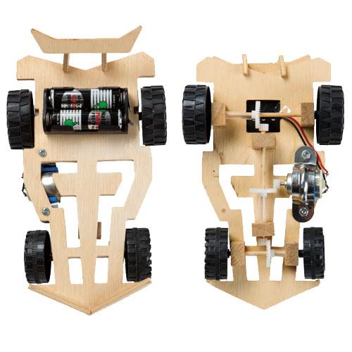 【STEAM手作小學堂】電池動力四輪傳動車