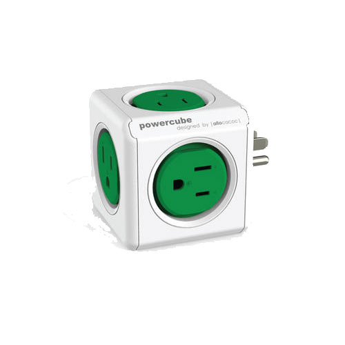 POWERCUBE 4100 3插孔5插座擴充插座 (綠)