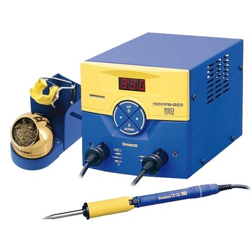HAKKO  ESD防靜電溫控焊接烙鐵機台 FM203