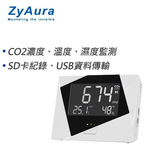 ZyAura 記憶式三合一(CO2+溫度+濕度)監測儀 ZG-1583RUD