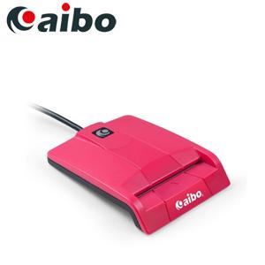 aibo AB20 方塊甜心ATM晶片讀卡機-桃紅