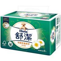 舒潔特級舒適潔淨抽取衛生紙-洋甘菊 88抽x8包x8串/箱