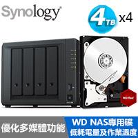 【超值組】Synology DS918+ 搭WD 紅標 4T NAS碟x4