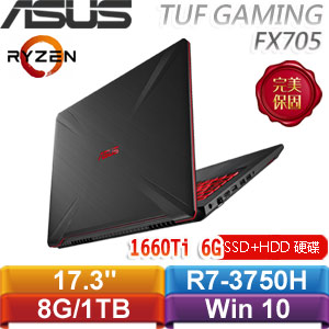 ASUS華碩 TUF Gaming FX705DU-0021B3750H (戰斧黑) 17.3吋電競筆電