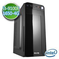 技嘉B360平台【EPC9I3B3604】i3四核 GTX1650-4G獨顯 2TB效能電腦
