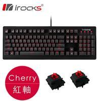 i-Rocks 艾芮克 IRK65MS 單色背光機械鍵盤 Cherry 紅軸
