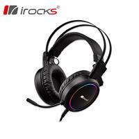 I-ROCKS 艾芮克  A17 耳罩式 RGB 電競耳機麥克風