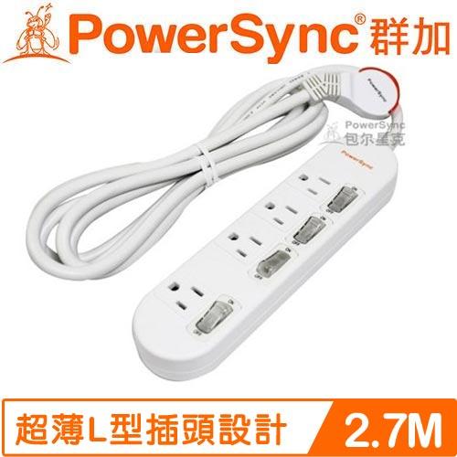 PowerSync群加 防雷擊4開4插延長線(加大距離) PWS-EEA4427  92.7M