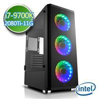 技嘉Z390平台【闇焱龍牙II】i7八核 RTX2080Ti-11G獨顯 SSD 240G效能電腦