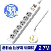 【三入裝】PowerWork動力工廠 CT-3160 1開6插 27米