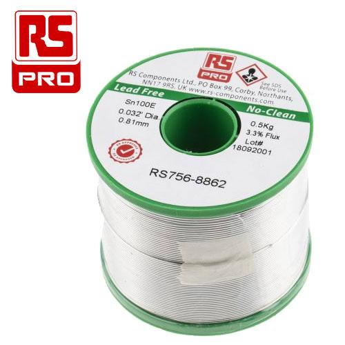 RS PRO 無鉛錫銅焊錫絲 500g 0.8mm