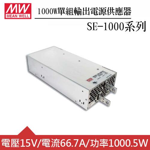 MW明緯 SE-1000-15 15V機殼型交換式電源供應器 (1000W)