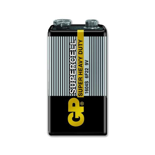 GP超霸 9V超級碳鋅電池1入 黑色