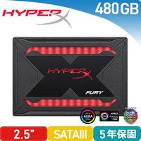 HyperX FURY RGB 480GB 2.5吋 SATA3 固態硬碟(SHFR200/480G