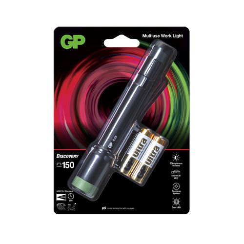 GP超霸C33多功能筆夾式LED手電筒