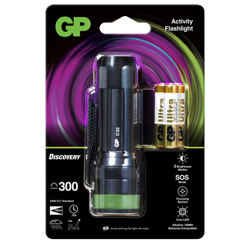 GP超霸 C32 伸縮調焦LED手電筒