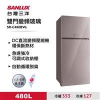台灣三洋480L雙門玻璃冰箱  SR-C480BVG