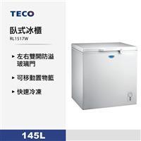 東元145L臥式冰櫃  RL1517W