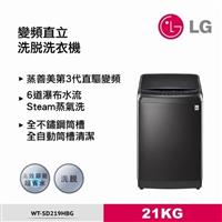 LG 21KG蒸善美第3代直驅變頻洗衣機  WT-SD219HBG