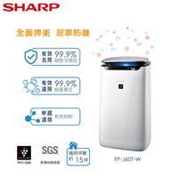 SHARP 25000濃度清淨機 15坪  FP-J60T-W