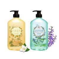【超值組】經典香氛-白茶茉莉洗髮露850ml+鼠尾草海鹽洗髮露850ml