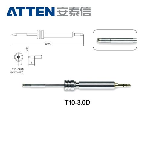 ATTEN安泰信 T10系列 3.0D一字烙鐵頭 T10-3.0D