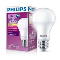 【飛利浦 PHILIPS】LED廣角燈泡 8W - 黃光