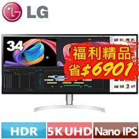 【福利精品★】LG 34型 21:9 UltraWide 螢幕34WK95U-W