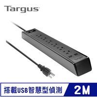 Targus APS14AP 3P 1開6插+2port USB 防突波延長線 2M