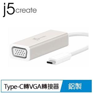 j5 JCA111 USB Type- C to VGA 轉接器