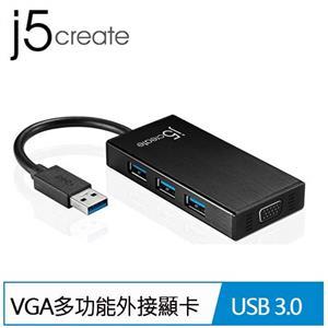j5 JUH410 USB3.0轉VGA多功能外接顯卡