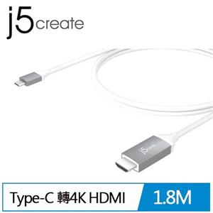 J5 JCC153G Type-C 轉4K HDMI轉接線(1.8米)