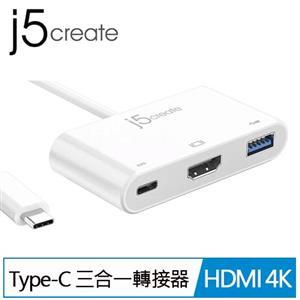 Kaijet 凱捷 j5 USB Type-C to HDMI 4K 三合一螢幕轉接器JCA379