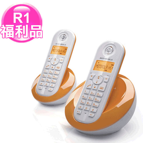 R1【福利品】MOTOROLA數位雙手機無線電話C-602橘
