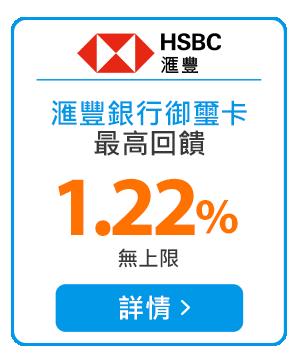 ?豐銀行御璽卡最高回饋1.22%無上限