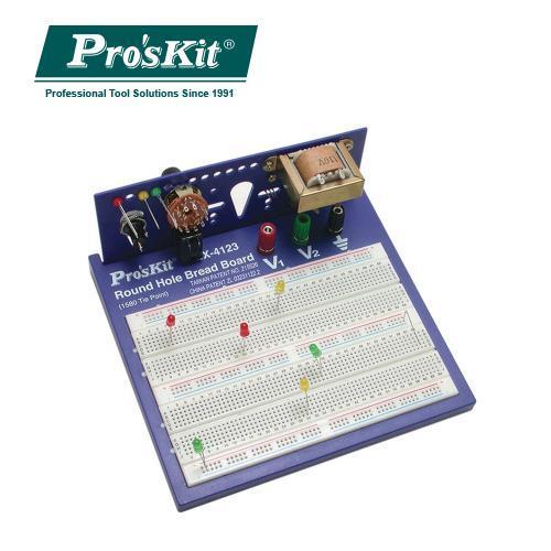 Pro'sKit 寶工  BX-4123  1580圓孔麵包板 3T+2D
