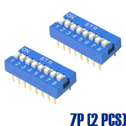 DIP Switch 指撥開關 7 Pin (2入)