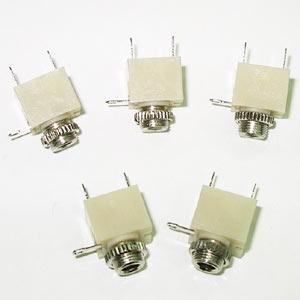 3.5單音耳機座 米黃色 3 PIN(5入)