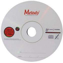 Melody 52X CD-R白金片 50入布丁筒