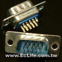 15 PIN D型三排DHD焊線 公接頭(2入)
