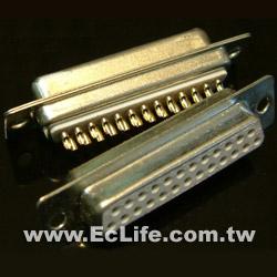 25 PIN D型焊線 母接頭(2入)