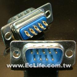 9 PIN D型焊線 公接頭 (2入)