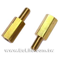 六角細牙銅柱 10mm (8入)