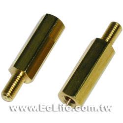 六角細牙銅柱 1.5CM (8入)