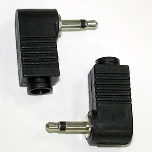 3.5單音頭 塑膠90度黑色(2入)